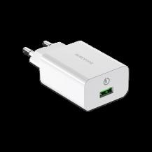 BOROFONE USB Адаптер от сети BA21A QC 3.0 (арт. 19312)