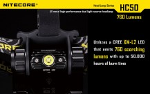 Налобный фонарь NITECORE HC50 Cree XM-L2 U2 (арт. 11133)